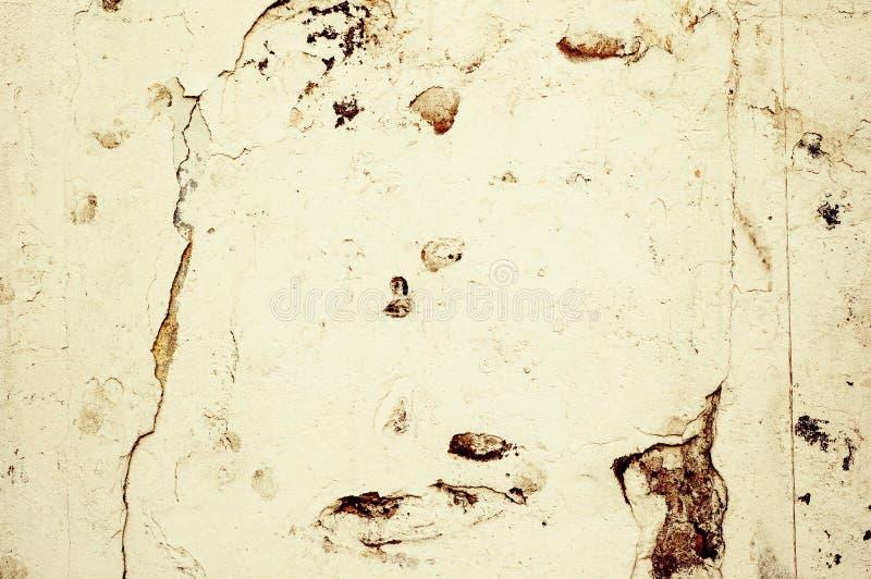 棕色水泥grunge光墙壁 库存图片