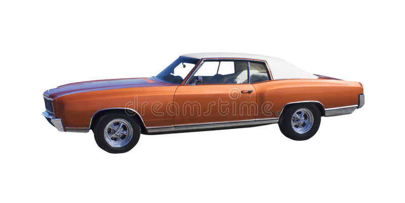 棕色汽车肌肉冠上了乙烯基 库存照片