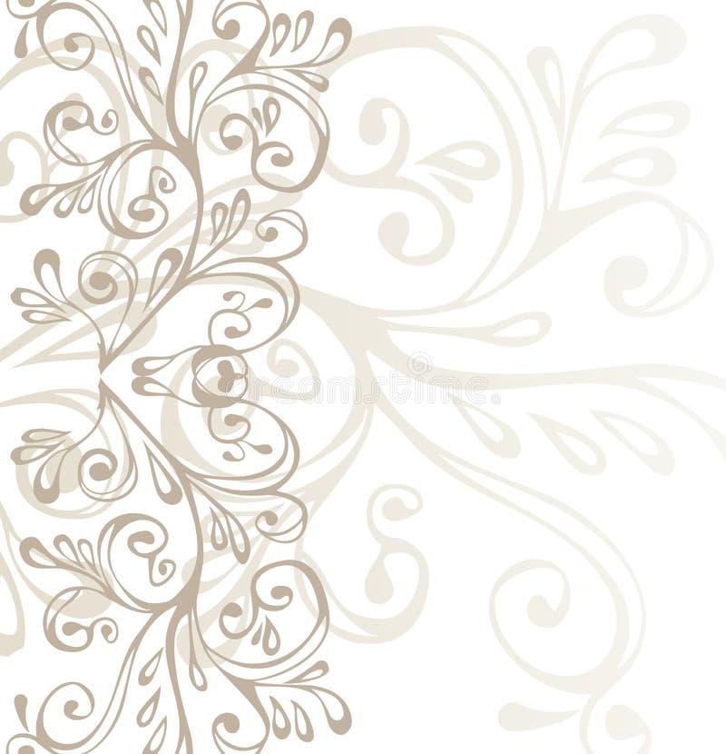 棕色灰色装饰品白色 免版税图库摄影