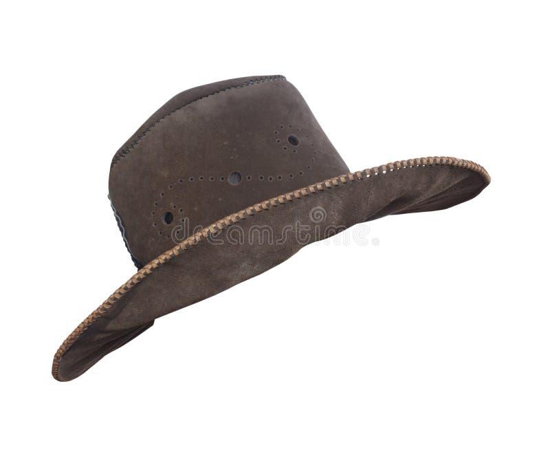 棕色牛仔帽 库存照片
