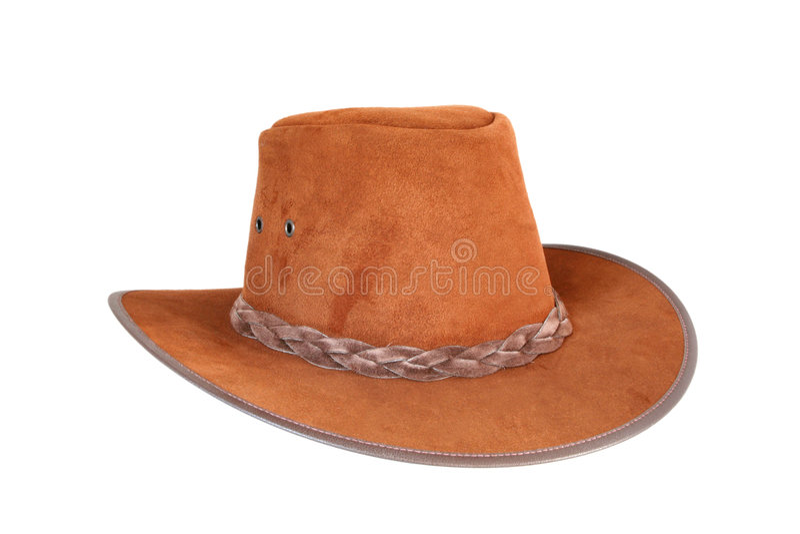 棕色牛仔帽 免版税库存图片