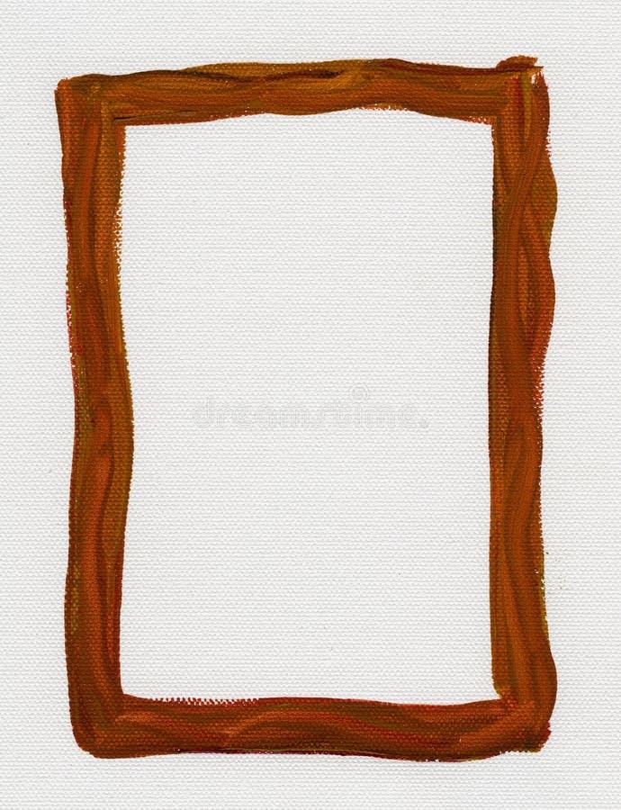 棕色画布框架被绘的红色白色 免版税库存照片