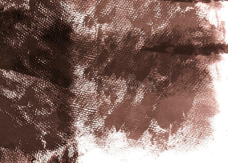 棕色画布grunge 库存例证