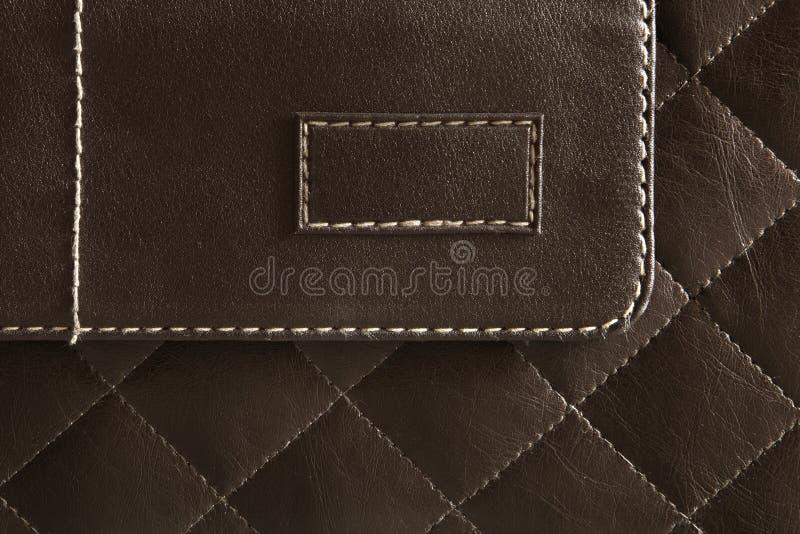 棕色皮革模式 库存照片