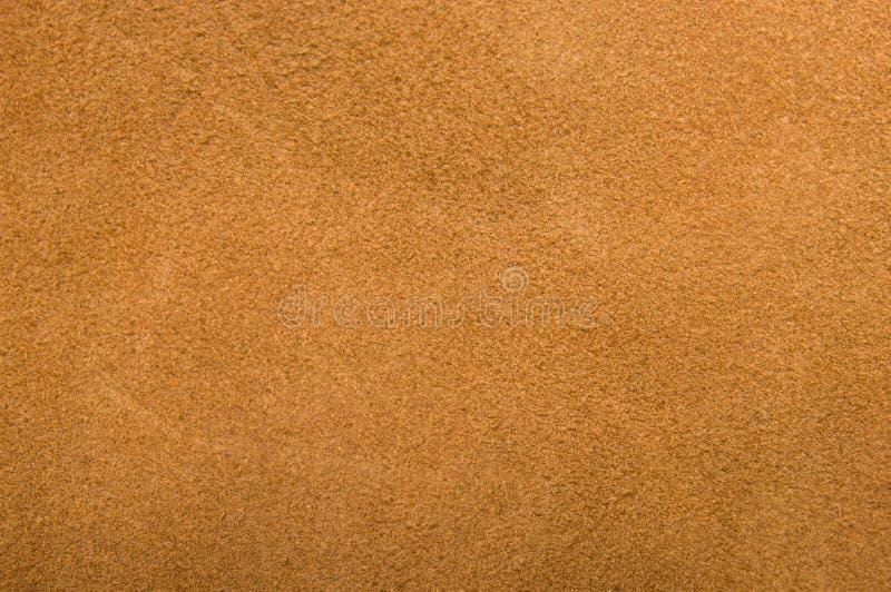 棕色真正绒面革 免版税库存图片
