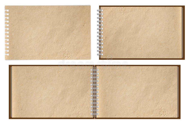 棕色笔记本老纸张 皇族释放例证