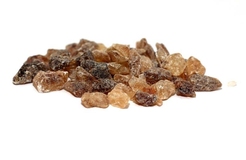 棕色糖煮的糖 免版税库存照片