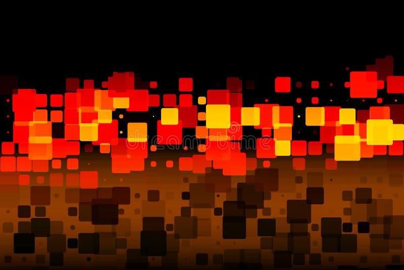 黑棕色红色黄色发光的各种各样的瓦片背景 库存例证