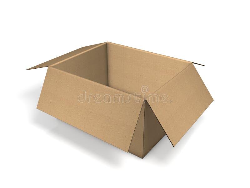 棕色纸盒装箱 库存例证