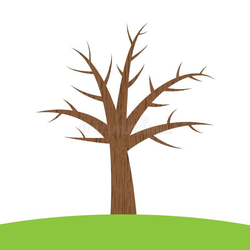 棕色结构树 皇族释放例证