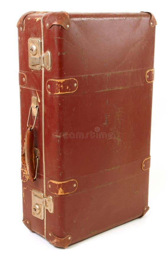 棕色老手提箱旅行 库存图片