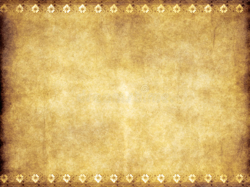 棕色老羊皮纸葡萄酒黄色 向量例证