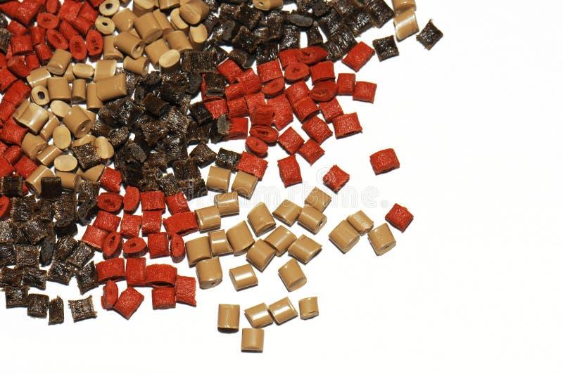 棕色聚合物红色树脂 库存图片