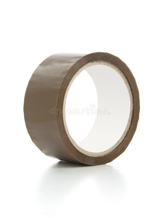 棕色透明胶带 免版税库存照片