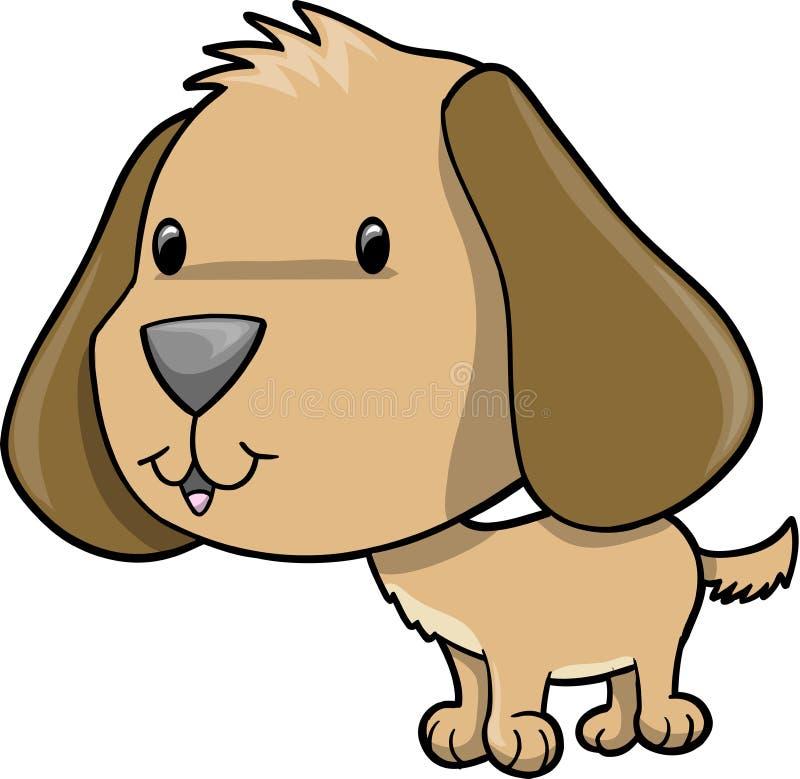 棕色逗人喜爱的狗小狗 皇族释放例证