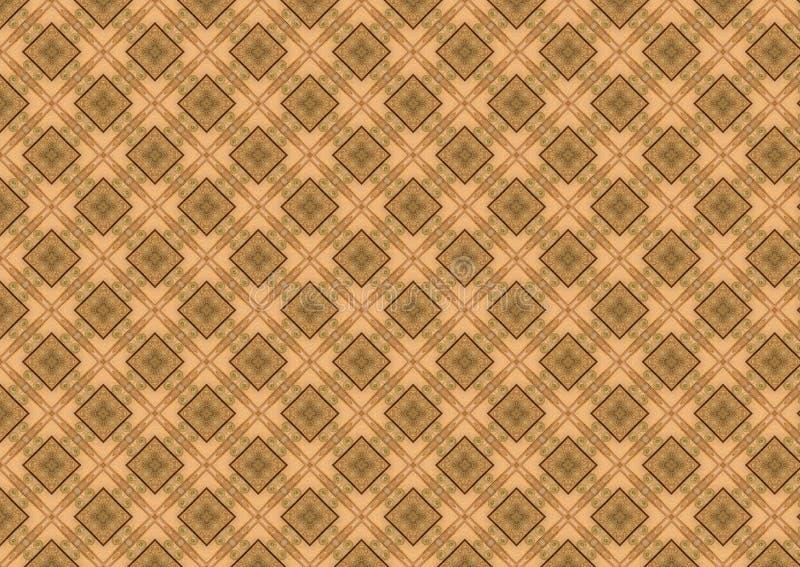 棕色金刚石模式棕褐色 向量例证