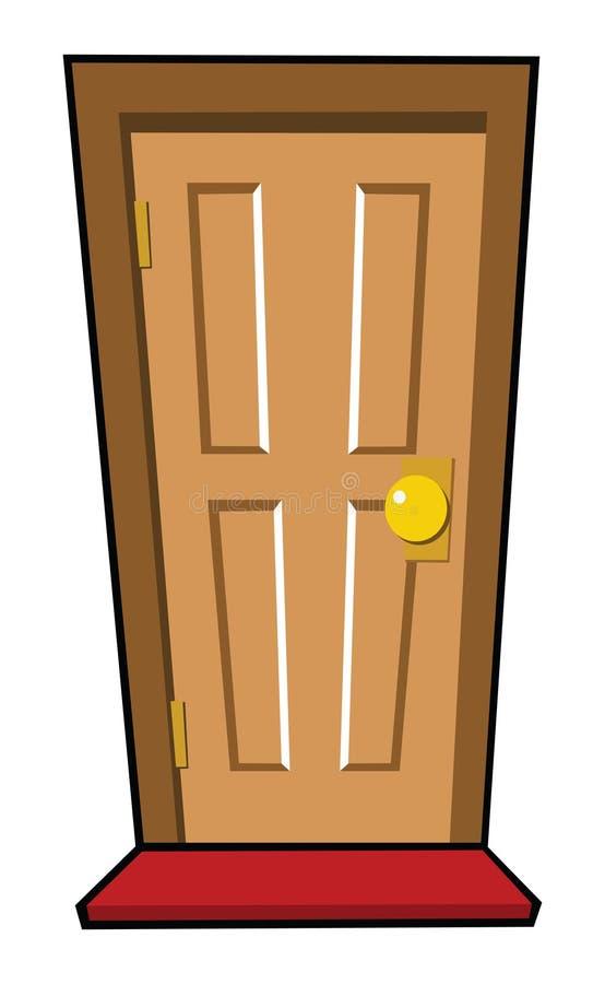 棕色门 向量例证