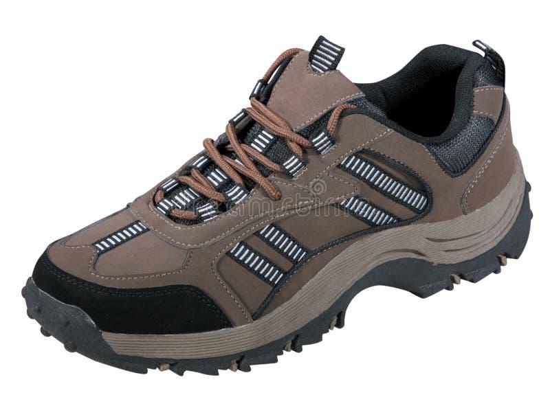 棕色鞋子体育运动 库存图片