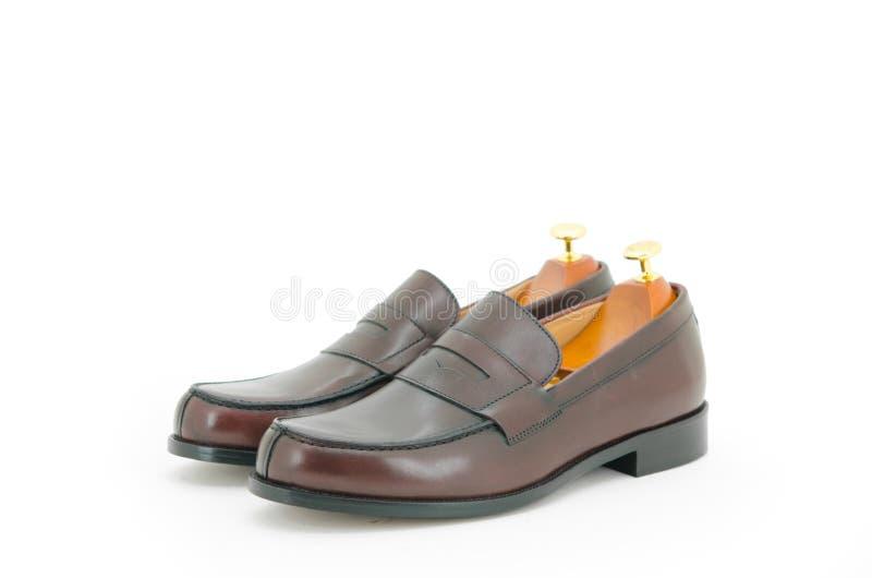 棕色鞋子 图库摄影
