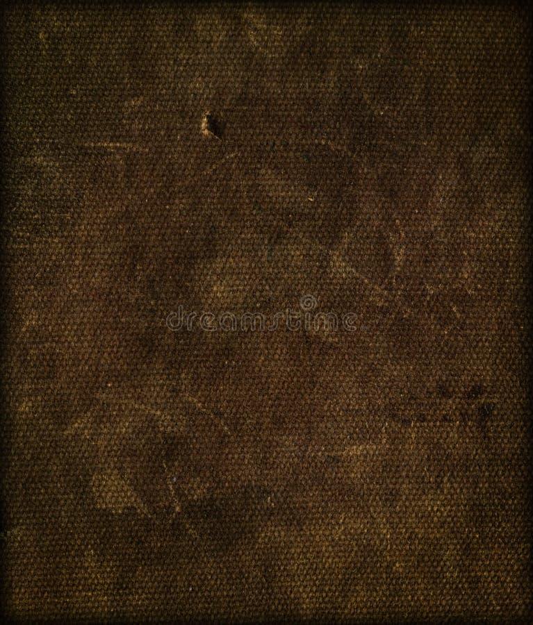 棕色黑暗的织品纹理 免版税库存图片