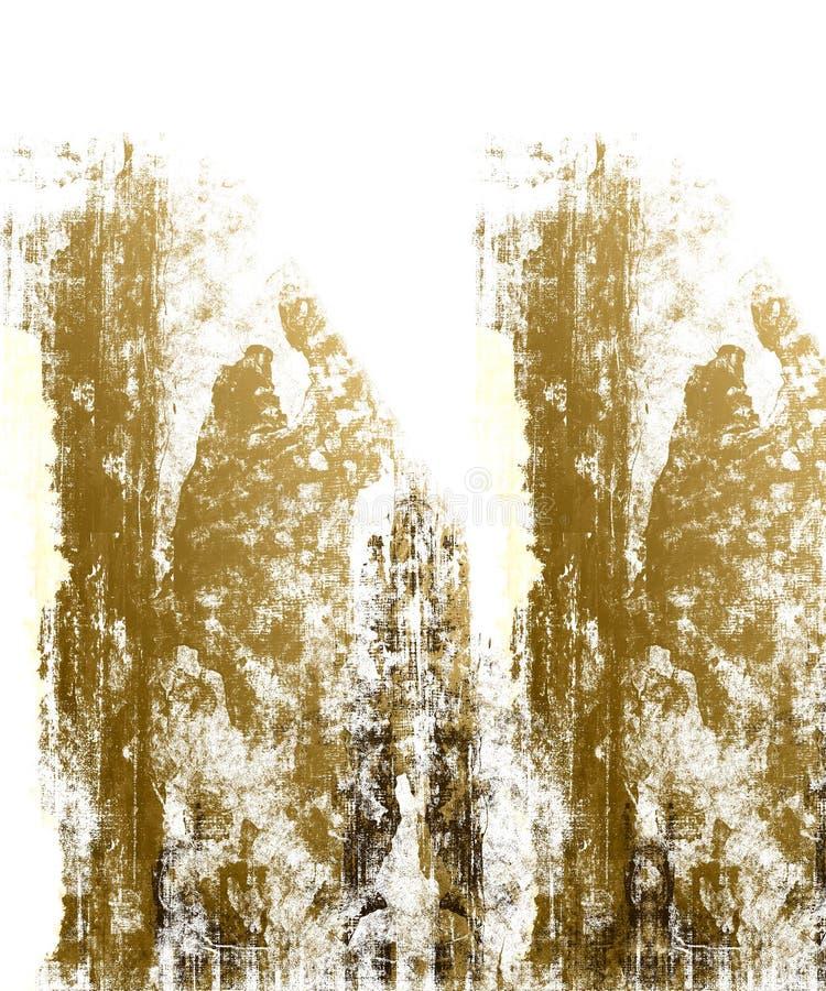 棕色grunge白色 免版税库存图片