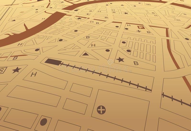 棕色streetmap 皇族释放例证