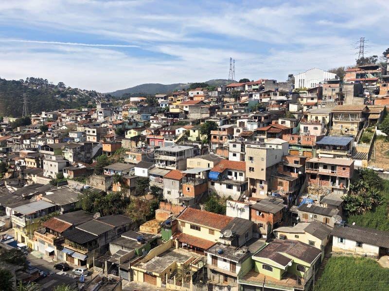 棚户区Mairiporã São保罗巴西 图库摄影