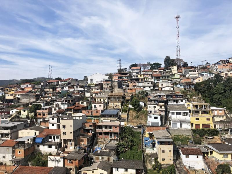 棚户区Mairiporã São保罗巴西 库存图片