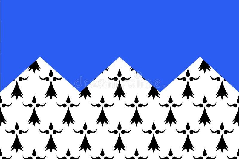 棚dArmor旗子在布里坦尼,法国 向量例证