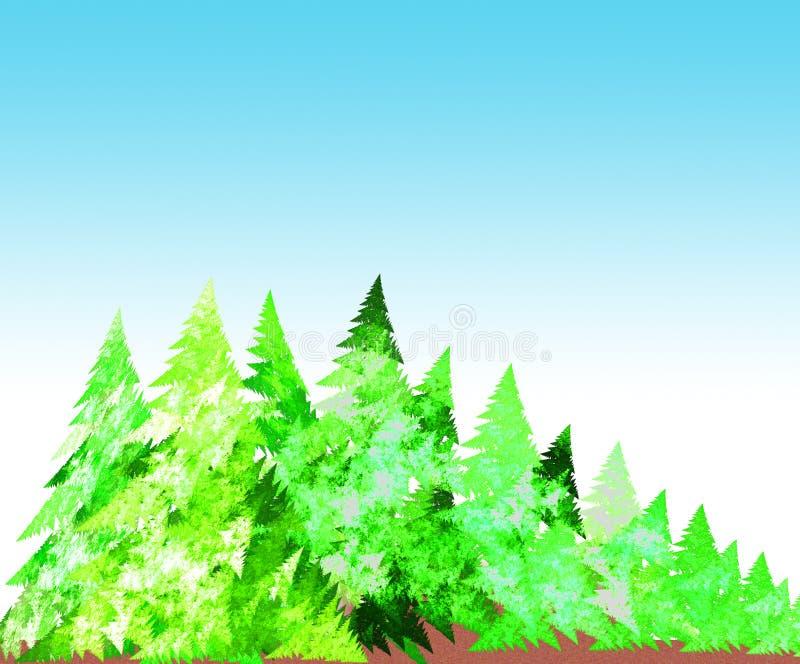 森林例证 皇族释放例证