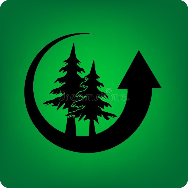 森林保存 库存例证