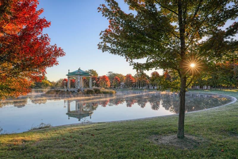 森林公园演奏台在圣路易斯,密苏里 免版税库存图片