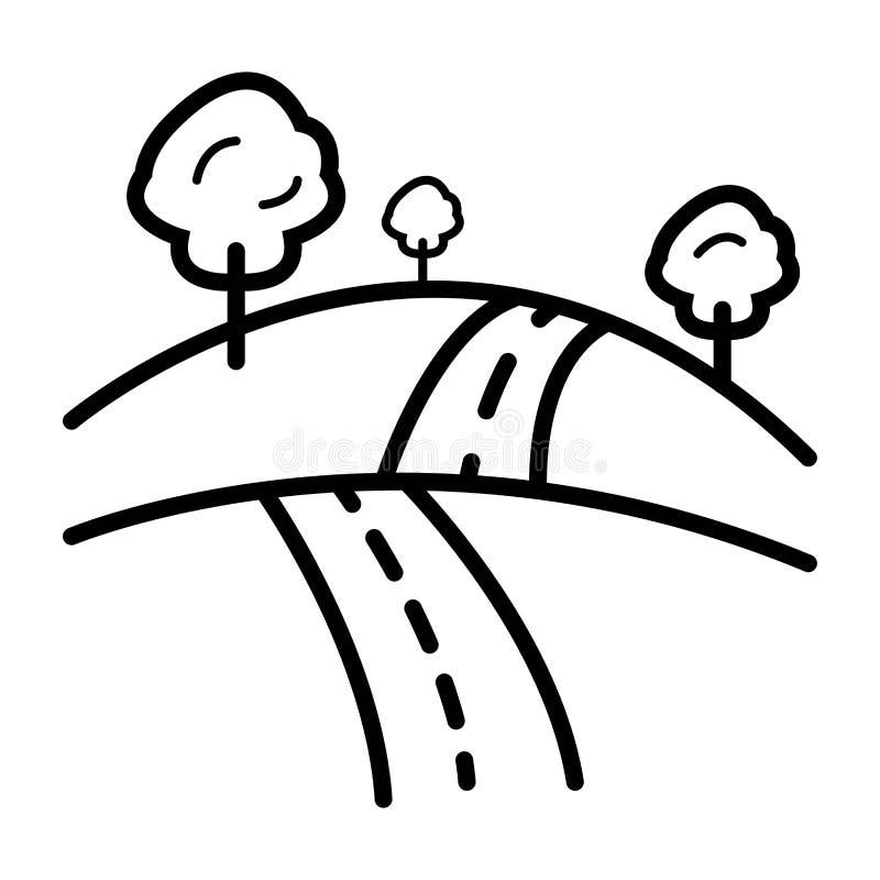 森林公路象 库存例证