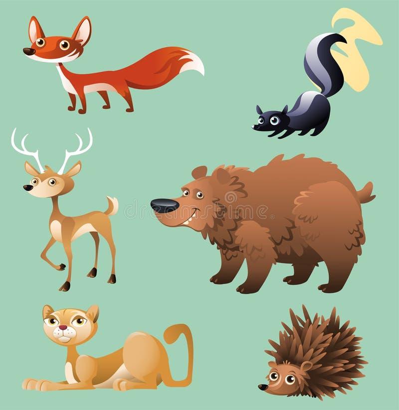 森林动物2 库存例证