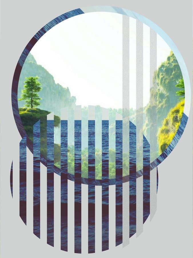 森林和湖 免版税图库摄影