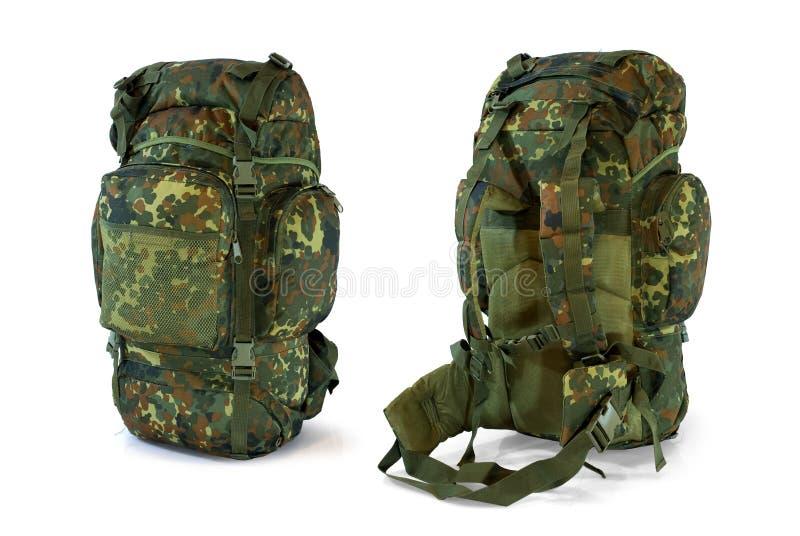 森林地伪装军用背包-   库存图片