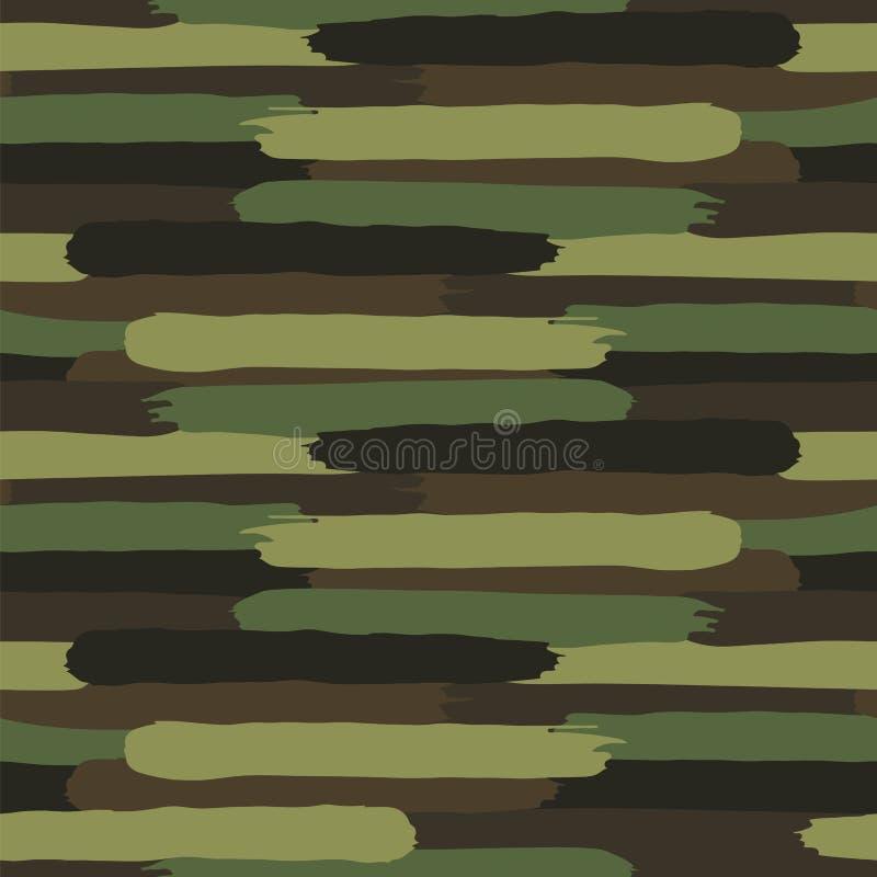 森林地伪装 无形的被察觉的样式 皇族释放例证