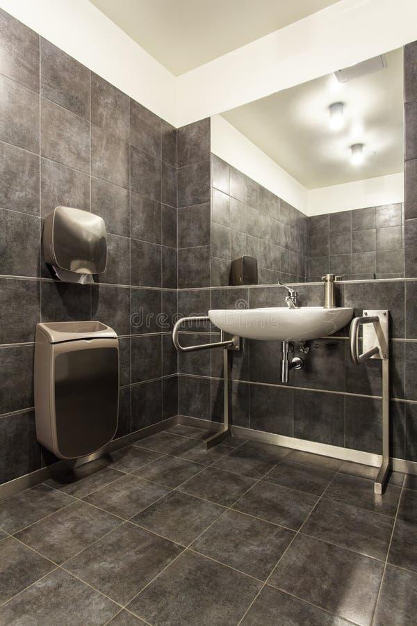森林地旅馆-残疾的卫生间 库存照片