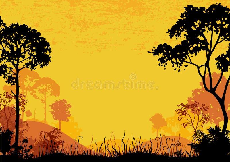 森林地 向量例证