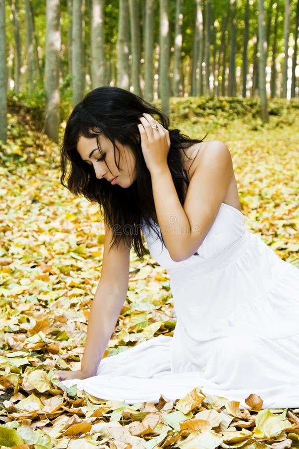 森林妇女 免版税图库摄影