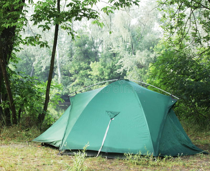 森林帐篷 图库摄影
