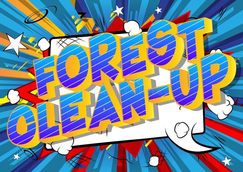 森林清洁-漫画样式词 皇族释放例证