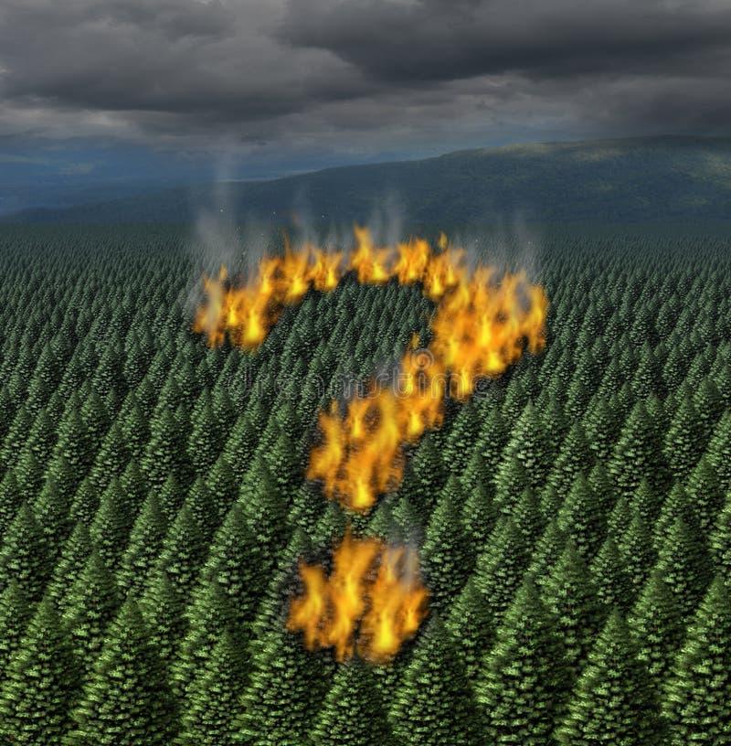 森林火灾 库存例证