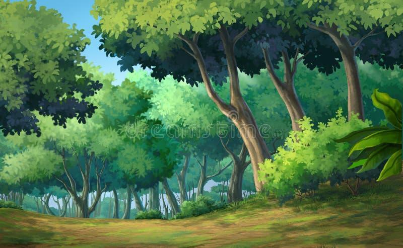 森林白天 向量例证