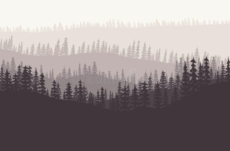 森林背景传染媒介 库存例证
