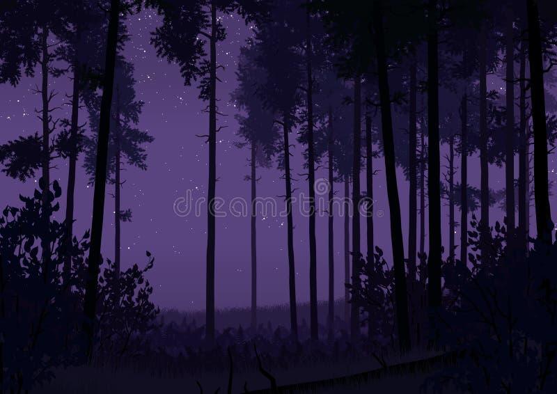 森林风景例证 免版税库存照片