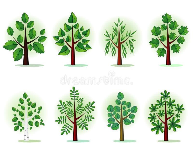 森林风格化结构树 库存例证