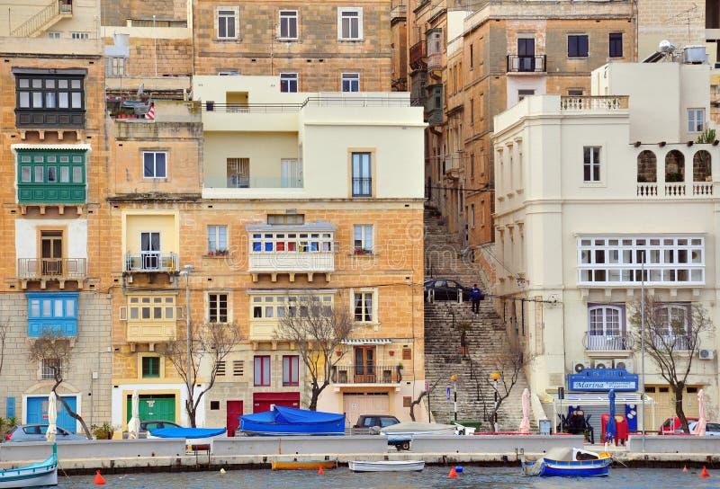 森格莱阿,马耳他 免版税库存图片