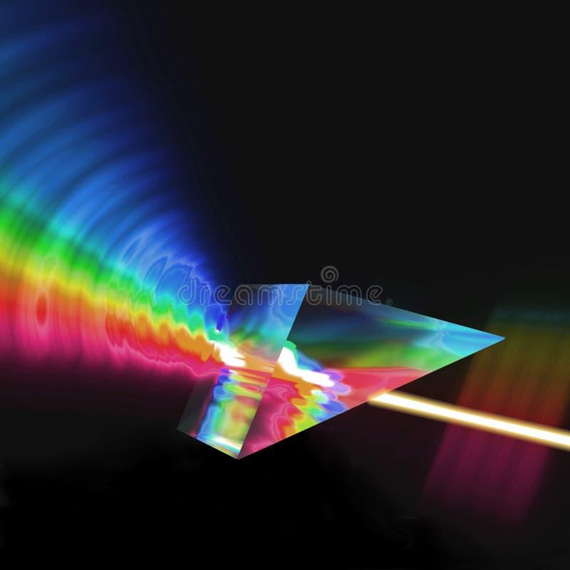 棱镜折射的光 库存图片