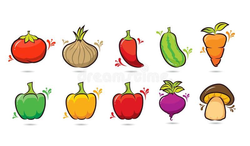 10棵组装菜设计动画片 皇族释放例证